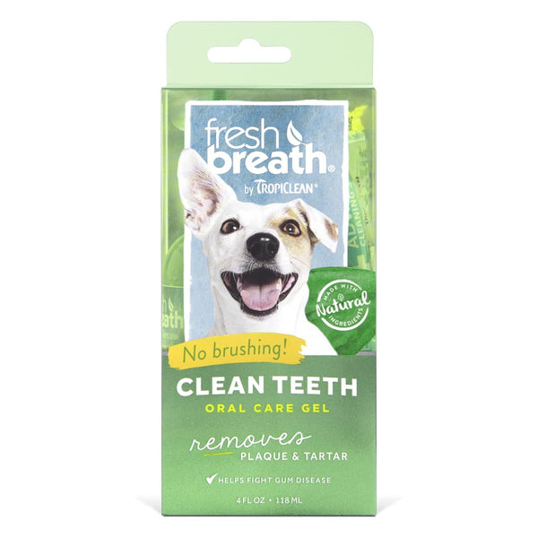 TropiClean Fresh Breath Clean Teeth Gel, 4-oz - Cleaner Tails