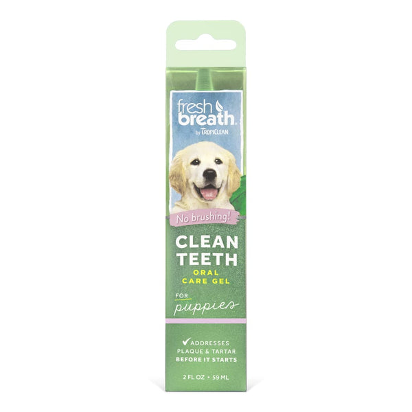TropiClean Fresh Breath Clean Teeth Puppy Oral Care Gel, 2-oz - Cleaner Tails