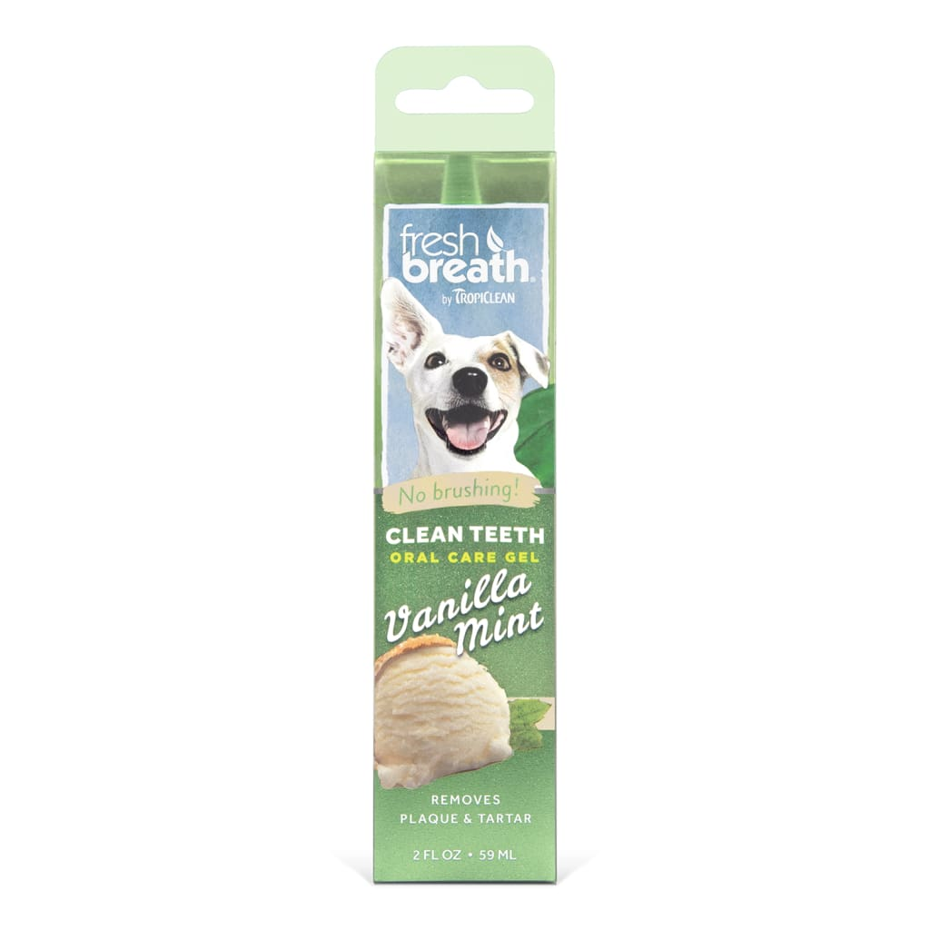 TropiClean Fresh Breath Clean Teeth Vanilla Mint Oral Care Gel, 2-oz - Cleaner Tails
