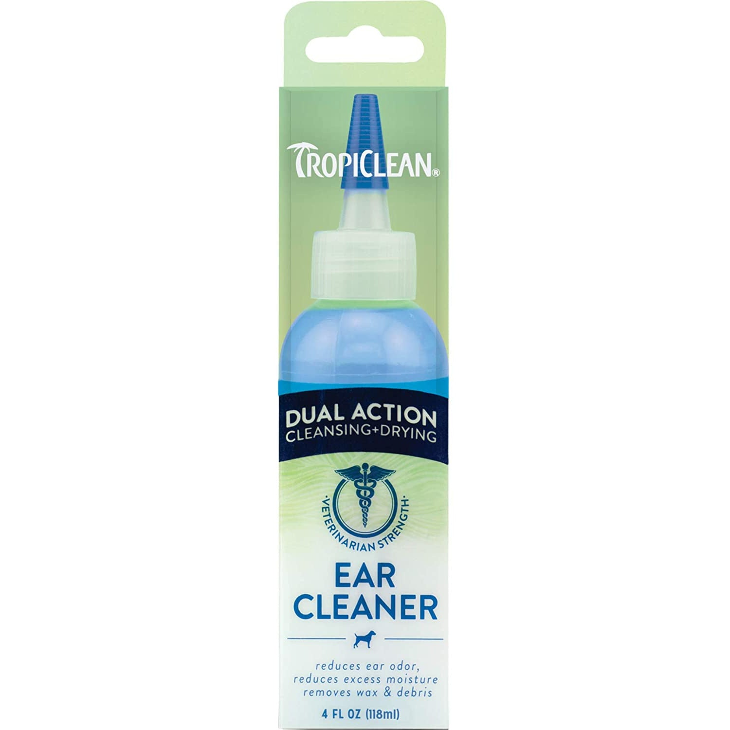 Tropiclean Dual Action Ear Cleaner, 4-oz
