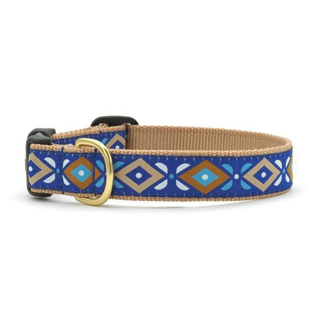 Up Country Aztec Blue Dog Collar - Cleaner Tails