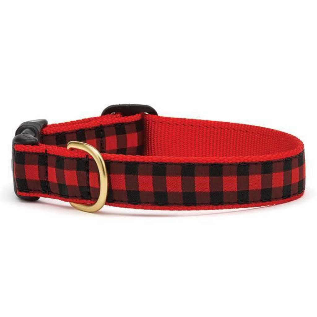 Up Country Buffalo Check Dog Collar - Cleaner Tails