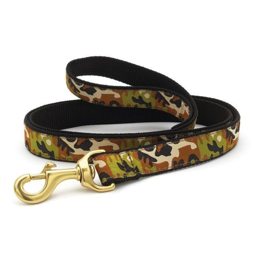 Up Country Camo Dog Leash, 6-ft - Cleaner Tails