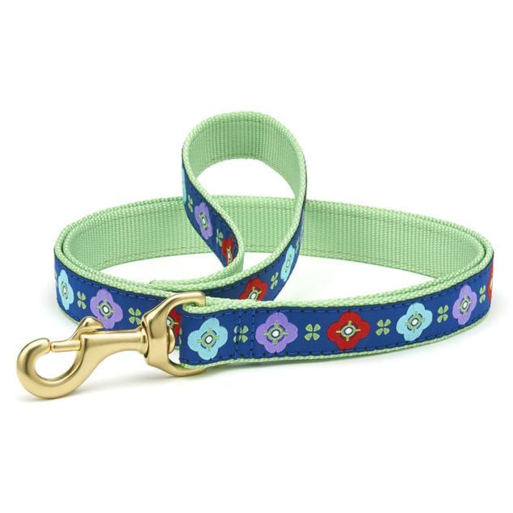 Up Country Celtic Rose Dog Leash, 6-ft - Cleaner Tails