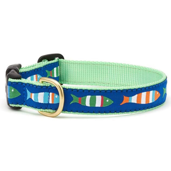 Up Country Funky Fish Dog Collar - Cleaner Tails