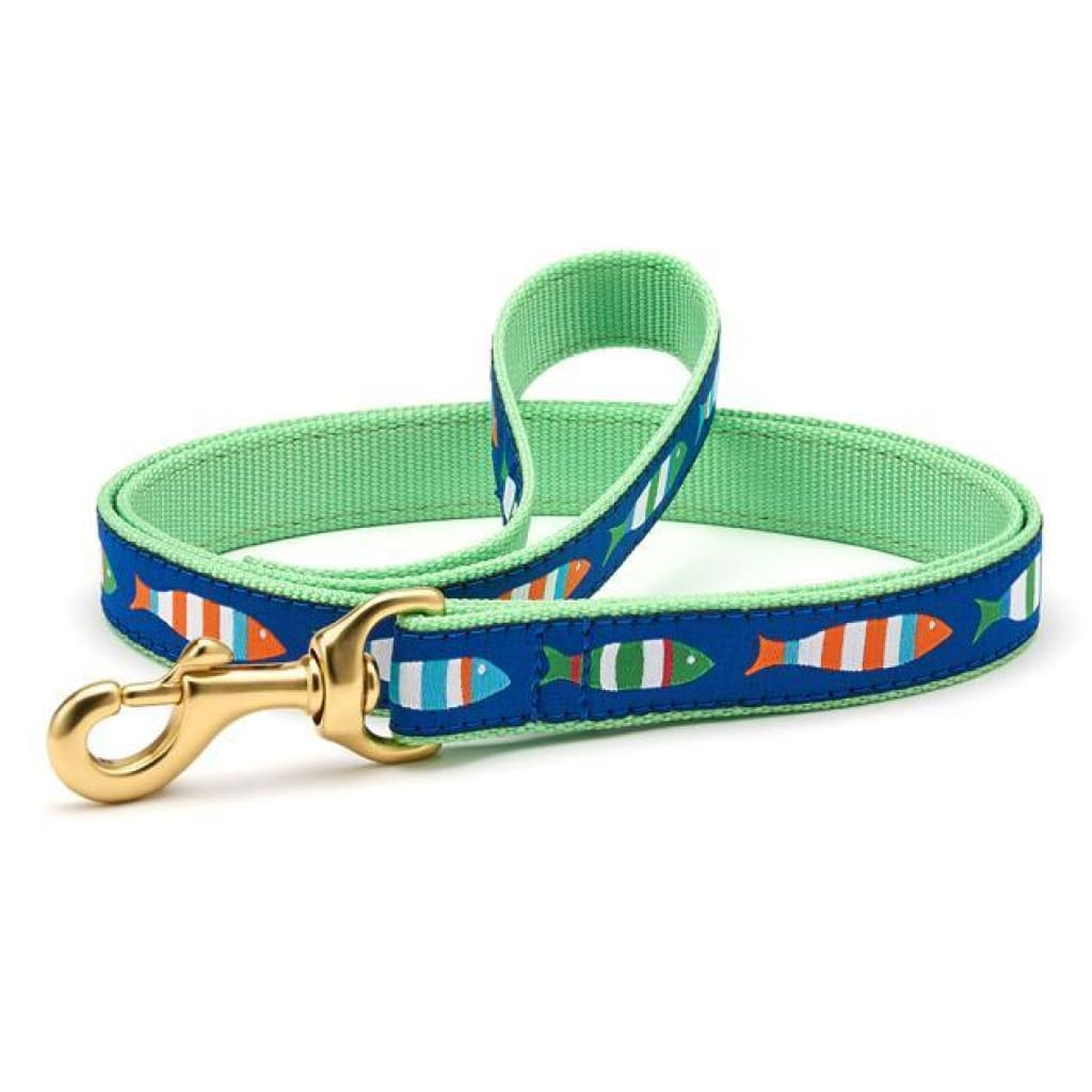 Up Country Funky Fish Dog Leash, 6-ft - Cleaner Tails