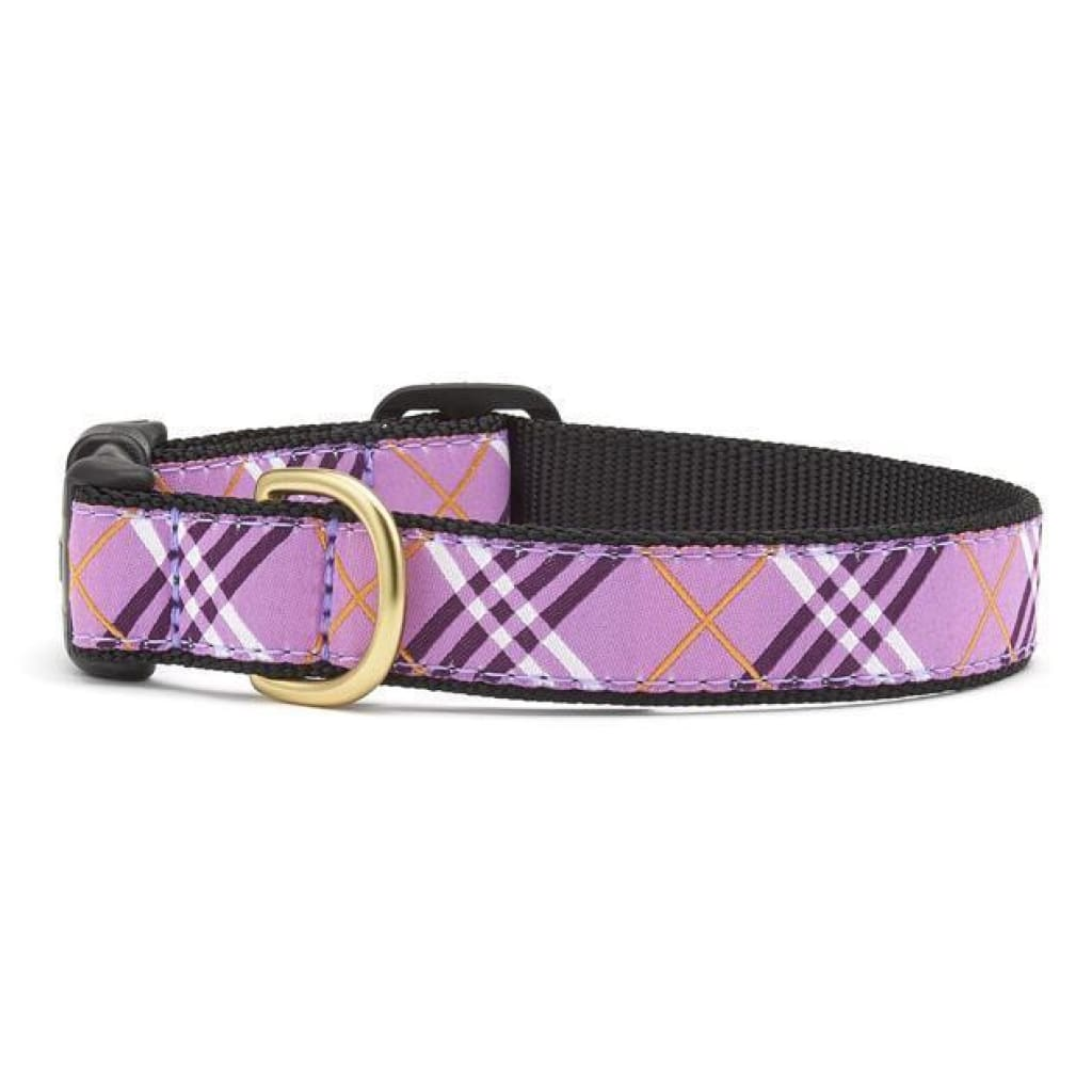 Up Country Lavender Lattice Dog Collar - Cleaner Tails