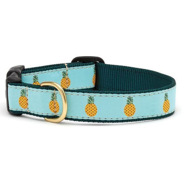 Up Country Pineapple Dog Collar - Cleaner Tails