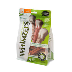 Whimzees Brushzees Natural Daily Dental Dog Chew - Large 6 Count - Dental Chew