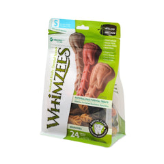 Whimzees Brushzees Natural Daily Dental Dog Chew - Small 24 Count - Dental Chew