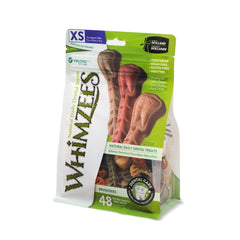Whimzees Brushzees Natural Daily Dental Dog Chew - X-Small 48 Count - Dental Chew