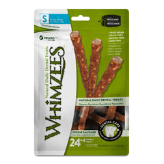 Whimzees Veggie Sausage Dental Dog Treats - Small 28 Count - Dental Chew
