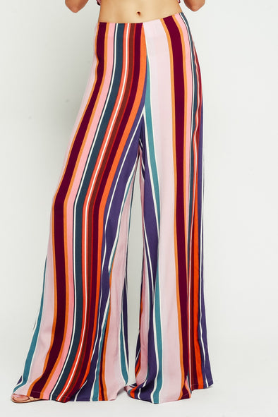 Good Vibes Striped Pants