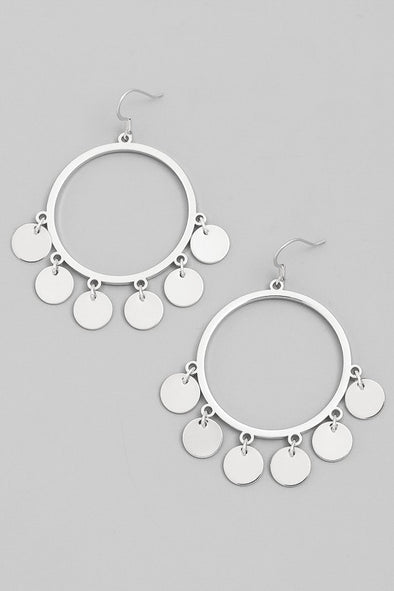 Miniature Coin Earrings in Silver