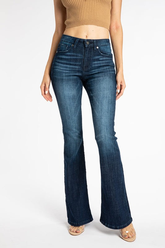 Just Enough Dark Wash Flare Jeans