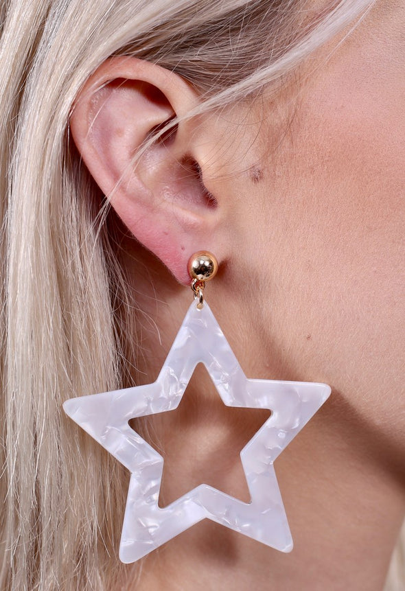 Mayberry Resin Star Post Earring