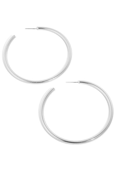 Large Metallic Hoop Earrings