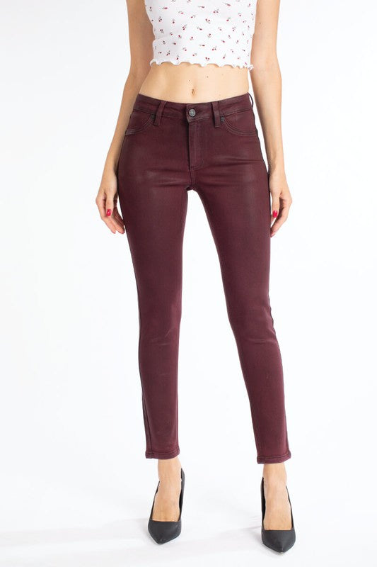 Hard To Handle Coated Skinny Jeans
