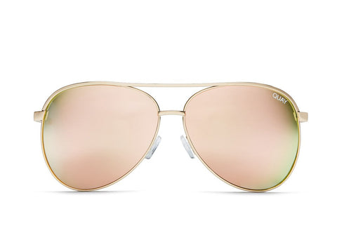 Vivienne Sunnies in Green/Rose Gold