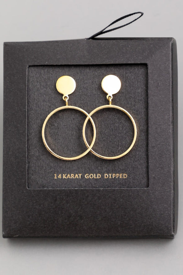 Circle Hoop Drop Earrings