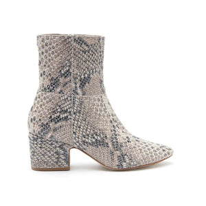 At Ease Natural Snake Bootie