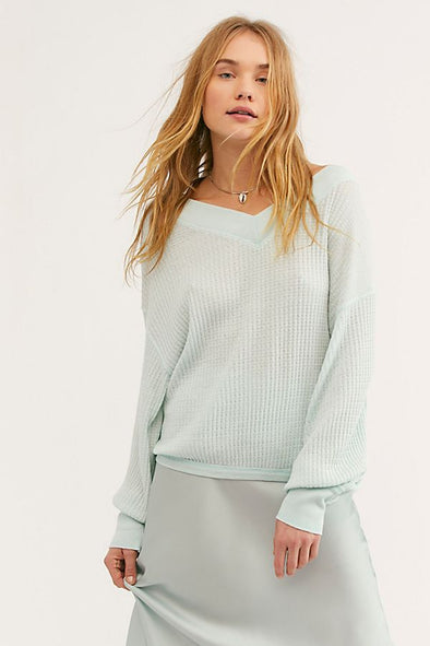 South Side Thermal Top - Mint
