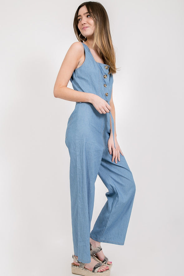 Whisper Temptation Denim Jumpsuit