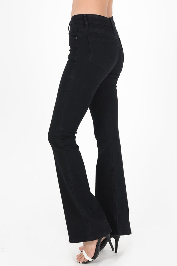 For The Win Black Flare Jeans