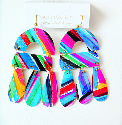 Spring Abstract Drop Earring