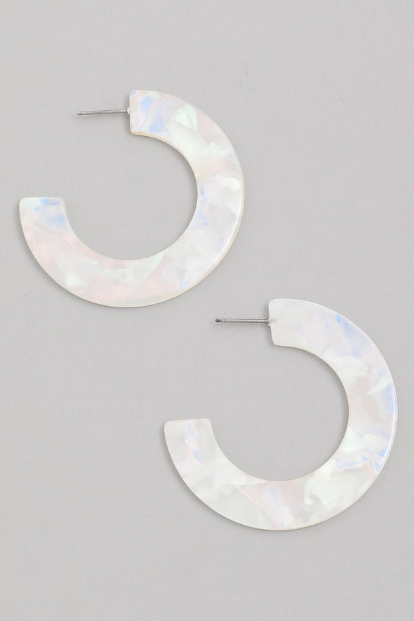 Acetate C Hoop Earrings