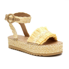 Seashore Platform Sandal - Natural
