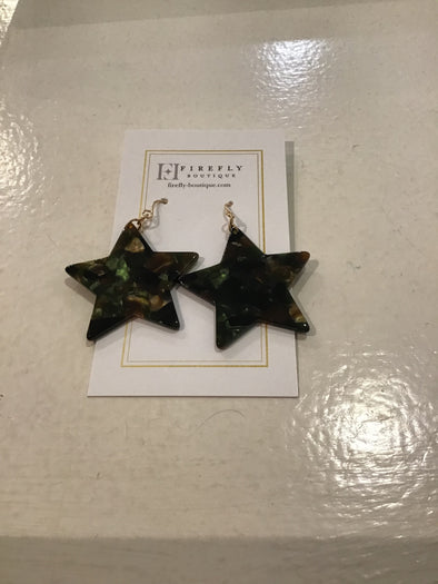 Dallas Resin Star Dangle Hook Earring