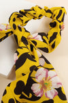 Floral & Animal Mix Print Ponytail Scrunchy