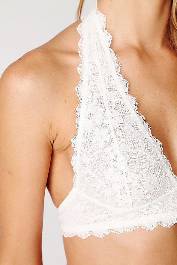 Galloon Lace Halter- Ivory