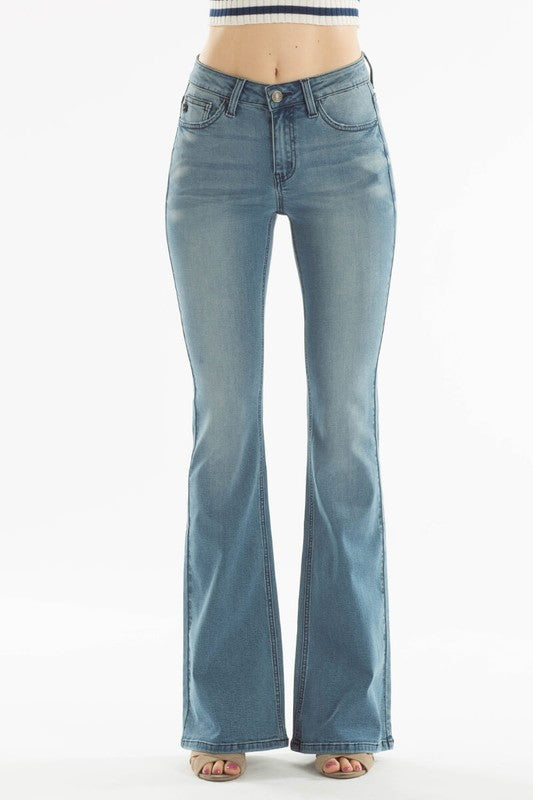 Looking Good Medium Wash Flare Jeans