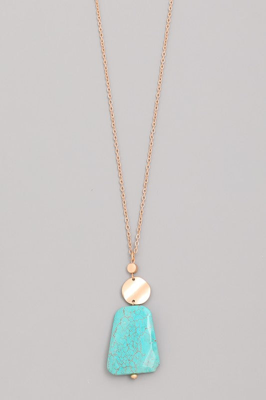 Semi Precious Stone Pendant Necklace