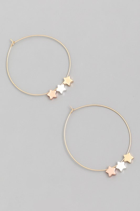 Simple As Can Be Star Earring