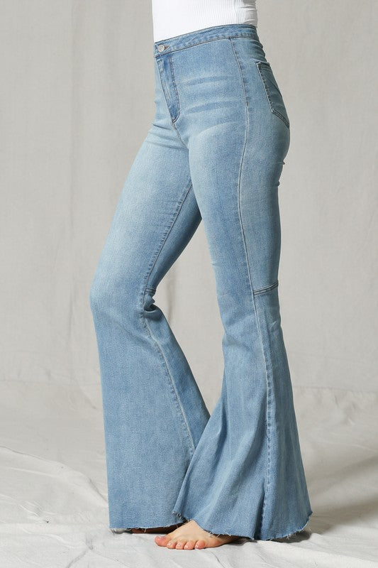 Just The Same Light Wash Flare Jeans