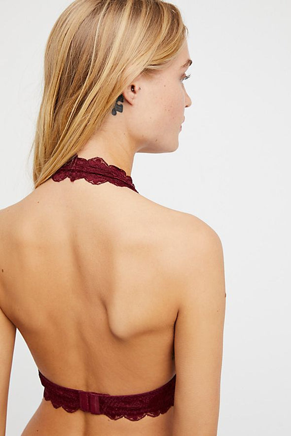Galloon Lace Halter- Wine