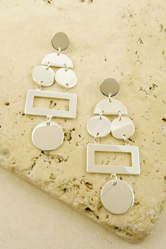 Party Girl Metal Stamp Earring