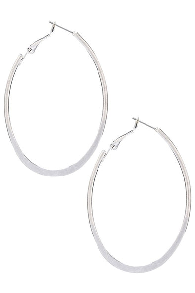Get Back Up Oval Hoop Earrring