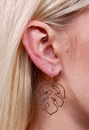 Leafy Life Filigree Earring - Gold