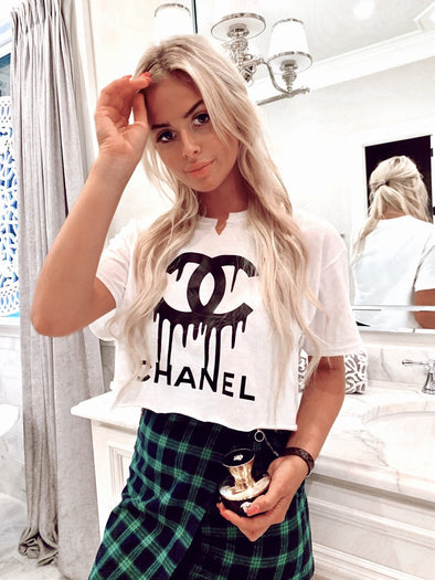Dripping in Black Chanel Tee