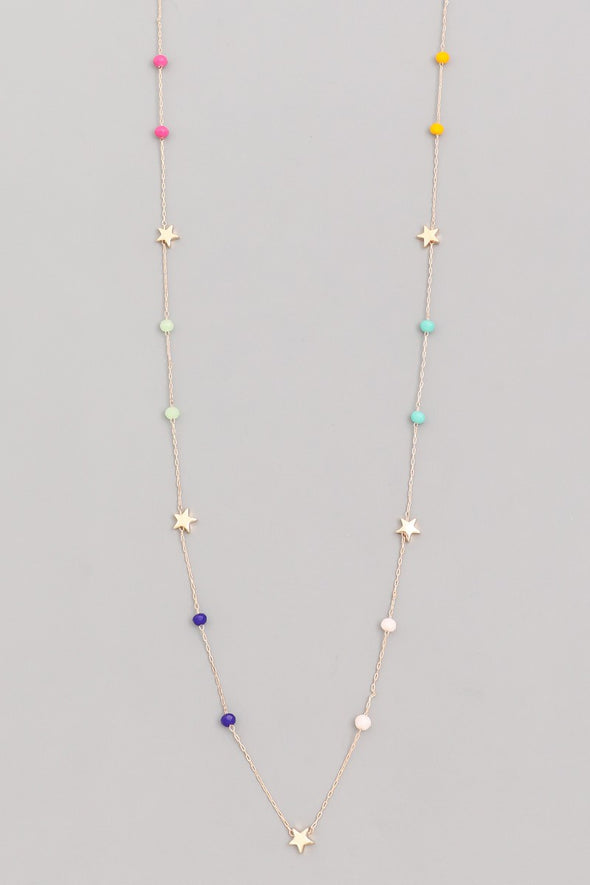 Dainty Star Bead Opera Necklace