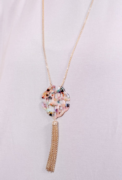 Froid Double Strand Pendant Necklace Multi