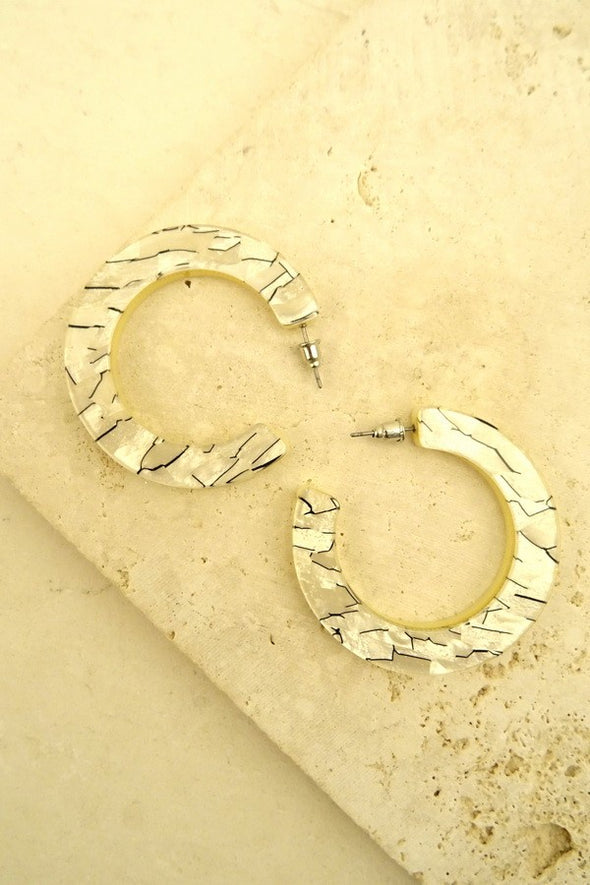 Open Resin Earring