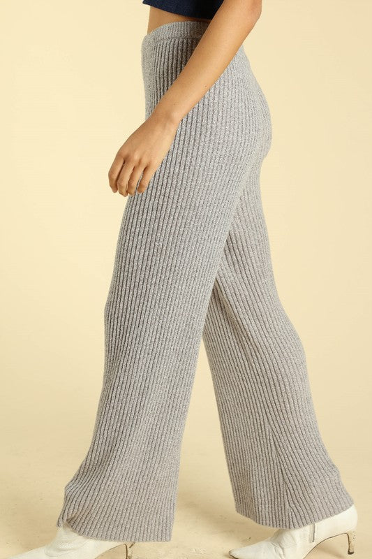 Let Me Go Knit Culotte Pants
