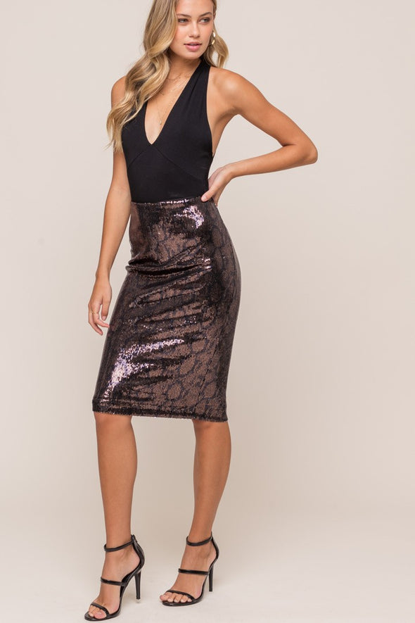 Forever & A Night Sequin Midi Skirt