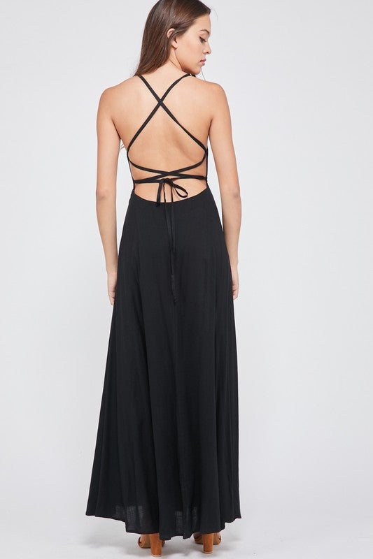 Open-Back Cami Maxi Dress