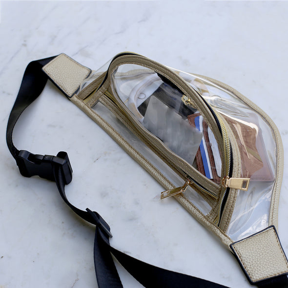 Go Everywhere Clear Waist Pack Gold